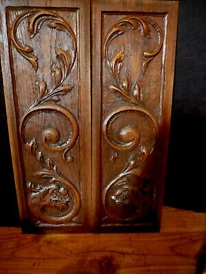 A Pair Of Victorian French Carved Wooden Panels