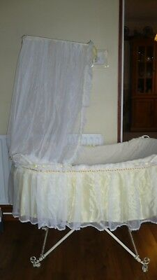 Vintage Victorian cast iron Baby  Moses Crib Bed