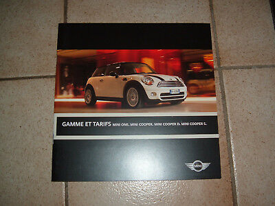 Brochure gamme et tarifs  Mini One & Cooper : 16 pages : 2008