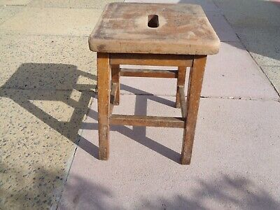 Old School Small Lab Wooden Stool