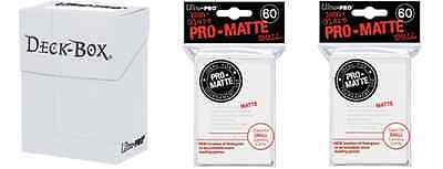 Ultra Pro White Deck Box + 120 Small Matte Sleeves