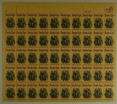 Us Scott 2010 Pane Of 50 Horatio Alger Stamps 20 Cent Face Mnh