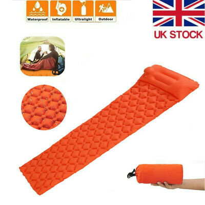 Inflatable Sleeping Mat Camping Air Pad Roll Bed Mattress 191*54cm Outdoor Tent