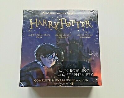 Harry Potter audio books collection 1-3 (25 CDs) NEW SEALED Bloomsbury Rowling