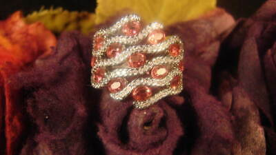 ~Beautiful Ruby & Crystal S925 Ring & Spell Scroll To Attract Love~Witch Chosen~