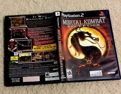 Sony PlayStation PS2 Game MORTAL KOMBAT DECEPTION Complete!