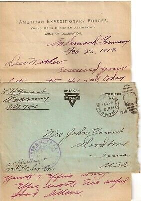 WWI 1919  Knights of Columbus Letters-Germany 1