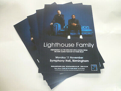 """LIGHTHOUSE FAMILY - """"BLUE SKY IN YOUR HEAD"""" UK TOUR 2019 (4 x PROMO SHOW CARDS)"""