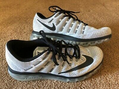 new concept ee616 942fe Mens Nike Air Max 2016 Neutral Ride Soft Running Shoe Sz 11.5 Euc Gray Black