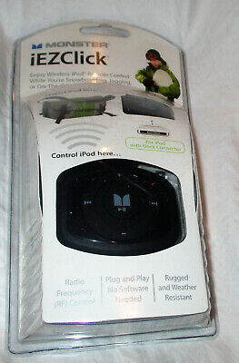 Monster Cable iEZClick Wireless iPod Classic or Nano Remote Control NEW