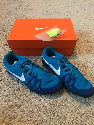 sports shoes 8bc4d 9e50c Nike Zoom Rival M 8 Track Sprint Spikes Shoes 806555-414 Blue Men s Size 8.5