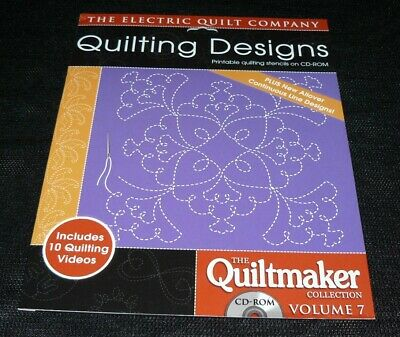 The Electric Quilt Company Quilting Designs Quiltmaker Collection Volume 7