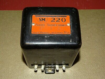 Silver Marshall Type 220 Audio Transformer, 1920s