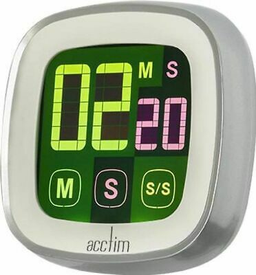 Acctim Timer Magnetic Color LCD Touch Screen Kitchen Countdown Count UP Alarm