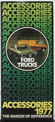 1977 Ford Pickup Truck Econoline Van Courier Series Accessories Sales Brochure