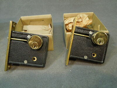 Vintage N.O.S. Welch Mortise Deadlock / Deadbolts - Keyed alike.  NEW!