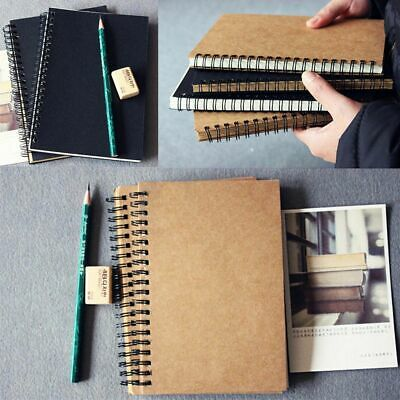 Fashion Blank Page Vintage Journal Diary Sketchbook Notepad Traveler Notebook