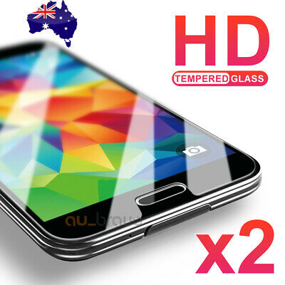 2x Scratch Resist Tempered Glass Screen Protector Film For Samsung Galaxy S7 S5
