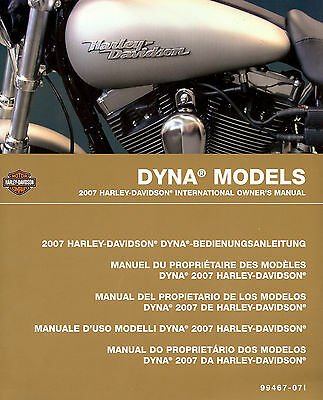 2007 Harley-Davidson Dyna International Owners Manual -Fxdb-Fxdc-Fxdl-Fxdwg