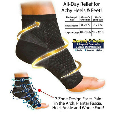 Magnetic Ankle Support Brace Foot Sleeve Running Copper Compression Socks