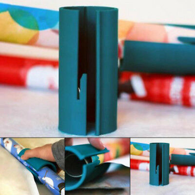Portable Cutting Sliding Wrapping Paper Cutter Gift Paper Roll Cutter Tool AU