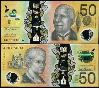 Australia 50 Dollars 2018 Polymer P New Design Colorful Unc Nr