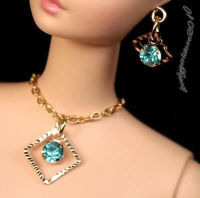 """Rhinestonre doll jewelry necklace earrings fits Barbie doll and 11.5/"""" dolls 834A"""