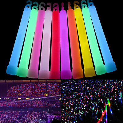 24x Premium Glow Sticks Individually Wrapped 6inch Long Party Neon Safety Light