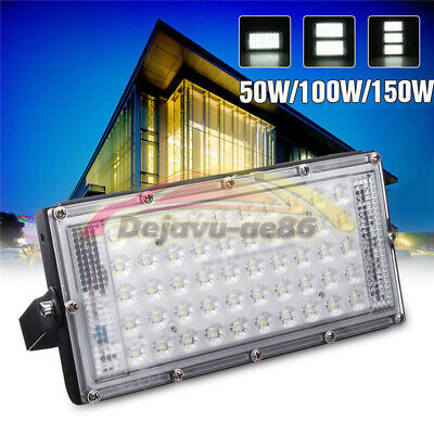 50W 100W 150W 50 LEDs Flood Light Spot Outdoor Lamp White Light Garden Landscape