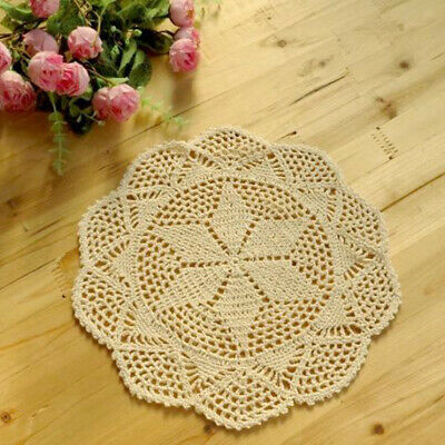 Crochet Lace Table Doily Cup Mat Handmade Table Cover Coaster Home Ornaments