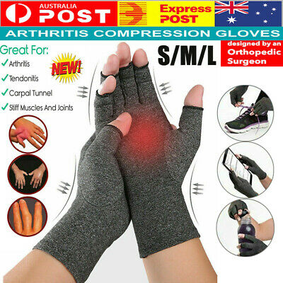 Arthritis Gloves Compression Joint Finger Hand Wrist Support Brace Pain Relief