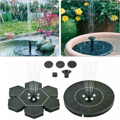 LED Solar Power Floating Bird Bath Water Fountain Pump Outdoor Garden Pond Pool