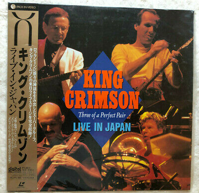 King Crimson Live In Japan Three Of A Perfect Pair Laserdisc Japan OBI Shrinkwra