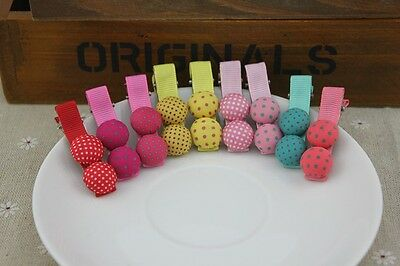 6pcs/lot dot button clips Korean style cute girls hairwear baby&kids hairpins