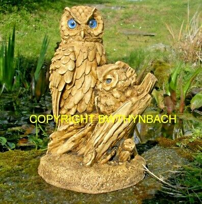 New Design Rubber Latex Mould Moulds Mold Make A Garden Ornament Owl And Owlet