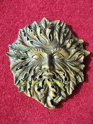 New Design Latex Mould Mold Moulds Pagan Wiccan Greenman Green Man Plaque 29