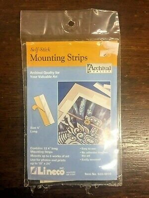 """Lineco No. 533-4010 Archival Mounting Strips 12/pkg-4"""""""