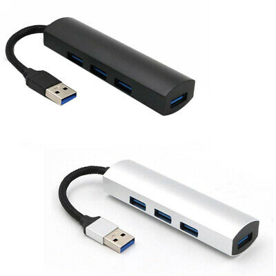 2X(USB 3.0 Hub, Alloy 4-Port USB 3.0 Data Hub Tragbare Super Speed Für Macb S7T9