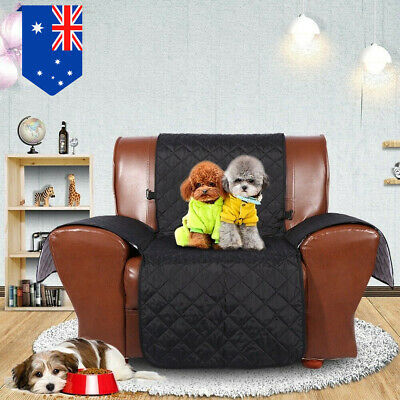 1-Seater Anti-Slip Quilted Sofa Couch Recliner Chair Pet Kid Protector Cover