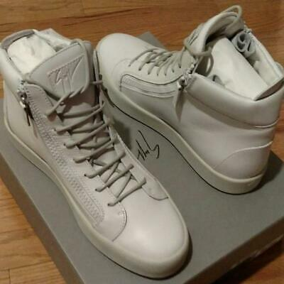 a09949ae0c418 $1250 Mens Giuseppe Zanotti Wings Leather High-Top Sneakers Light Gray 43 US  10