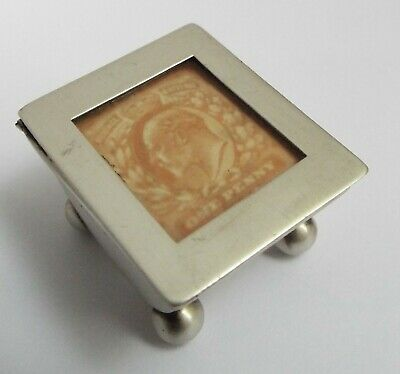 Lovely Very Clean Condition English Antique 1902 Solid Sterling Silver Stamp Box