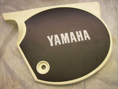 Seitendeckel Rechts Weiss Neu Yamaha Xt 500 -79 White New Right Side Cover Panel