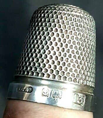 Lovely Sterling Silver Size 13 Thimble henry Griffiths & Son Birmingham 1926