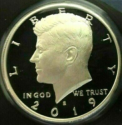 2019 S 90% SILVER GEM PROOF KENNEDY HALF DOLLAR deep cameo