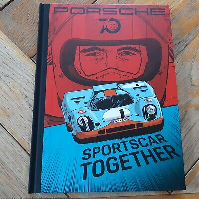 HB Official PORSCHE BOOK / BD / COMICS / 70 years JO SIFFERT