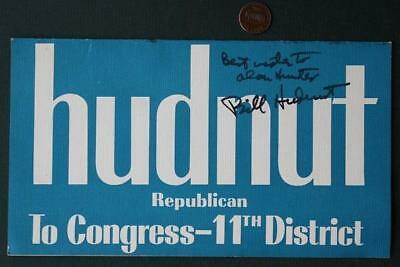 1972 Mayor Bill Hudnut for Indianapolis Congressman signed/autographed flyer!*