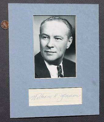 1944-59 Indiana GOP Senator William Jenner matted signed autograph & photo set!*