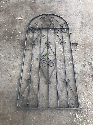 Black Wrought Iron Side Garden Gate / Door , vintage heavy gate
