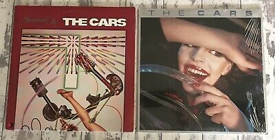 LOT of 2 Vtg THE CARS Vinyl LPs HEARTBEAT CITY/SELF TITLED VG+/VG