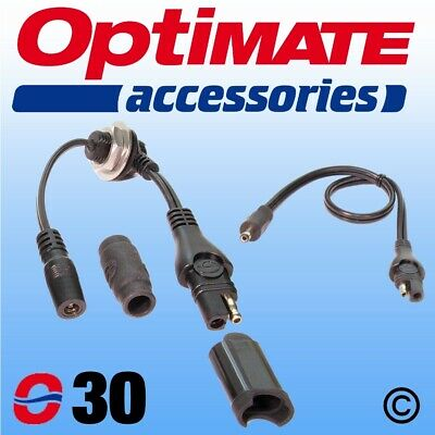 Optimate O-30 Power Supply Lead Kit for Motorcycle Tank Bag / Top Box / Pannier